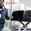 Gas Strut Desktop Dual Monitor Stand F160 thumbnail 4