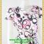 3013ชุดทํางาน เสื้อผ้าคนอ้วนคอวีสีชมพูลายกราฟฟิคแขนฟิลิปปินส์แต่งโบด้านหน้า สไตล์ล้ำคลาสสิคสุภาพเป็นทางการอย่างโดดเด่นงานละเอียดด้วยซับใน thumbnail 2