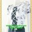 2321ชุดทํางาน เสื้อผ้าคนอ้วนลายตารางกราฟฟิคเล่นโบไขว้กากบาทด้านหน้าโดดเด่นด้วยคอปกจีบแยกผ้าvalentino thumbnail 3