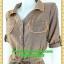 2609ชุดทํางาน เสื้อผ้าคนอ้วนปกเชิ๊ตกระดุมหน้าแขนยาวทรงเอเรียบเล่นลายปกแขนสาบ สไตล์เท่คล่องตัวกระเป๋าล้วงซ้ายขวา thumbnail 3