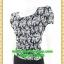 2614เสื้อผ้าคนอ้วน ชุดทำงานลายไทยขาวดำตีเกล็ดหน้าคอกลมแขนคร่อมไหล่แต่งจีบปลายต่อเอวด้วยชิ้นลอยกระโปรงทรงตรงมีซับใน thumbnail 3