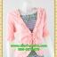 2680ชุดแซกทำงาน เสื้อผ้าคนอ้วนสีชมพูคลุมด้วยตัวนอกแต่งระบายปกแขนสไตล์หรูเนี๊ยบสีดำลายไทยหรูเนี้ยบ thumbnail 2