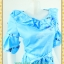 2309ชุดทํางาน เสื้อผ้าคนอ้วนผ้าเครปพิมพ์ลายข้างลำตัวโดดเด่นสะดุดตาแขนทรงระฆังคอกลมระบายรอบ สวมใส่สบายหรูหราอลังการเลือกใส่เป็นชุดออกงานเลิศหรู thumbnail 3