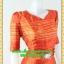 1974ชุดทํางาน เสื้อผ้าคนอ้วนสีส้มดุจทองสวยลุคหรูสง่างามคอวีโค้งรูปหัวใจโชว์เครื่องประดับสไตล์ออกงานเรียบหรู thumbnail 2