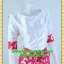 1374ชุดทํางาน เสื้อผ้าคนอ้วนคอกลมสีขาวมีลายผีเสื้อกระโปรงแต่งขอบแขนดีไซน์เรียบแต่โดดเด่นสไตล์หวานวินเทจเรียบร้อย thumbnail 2
