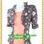 2690เสื้อผ้าคนอ้วน เสื้อผ้าแฟชั่นดอกเกาะอกมีชุดคลุมลายวินเทจระบายคอเลิศหรูสีเข้มหรูสง่างามสวมใส่ทำงานสไตล์หรูมั่นใจ thumbnail 3