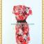 1855ชุดทํางาน เสื้อผ้าคนอ้วนสีแดงลายพริ้นท์ แต่งคอหยักสลับสีตีเกล็ดซ่อนด้านหน้าตัวเสื้อ แขนจีบบนไหล่ กระโปรงจีบแยก 2ข้างเป็นชั้นๆทรงสอบลาย thumbnail 4