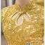 รหัส ชุดกี่เพ้า : KPS025 ชุดกี่เพ้าประยุกต์ราคาถูก งานปักดี ใส่งานแต่งงาน สีทองสุดหรู คอจีน เหมาะใส่เป็นชุดยกน้ำชา thumbnail 3