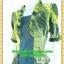 2533เสื้อผ้าคนอ้วน เสื้อผ้าแฟชั่นสีเขียวมีชุดคลุมลายวินเทจระบายคอเลิศหรูสีเข้มหรูสง่างามสวมใส่ทำงานสไตล์หรูมั่นใจ thumbnail 3