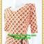 1967ชุดเดรสทำงาน เสื้อผ้าคนอ้วน สีส้มดำชุดคอวีโค้งรูปหัวใจโชว์เครื่องประดับสไตล์ออกงานเรียบหรู thumbnail 3