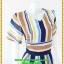 2910เสื้อผ้าคนอ้วน ชุดทำงานลายริ้วคอวีแนวฟรีสไตล์กับผ้าชีฟองเบาสบายสวมใส่ทำงานอย่างอิสระ thumbnail 2