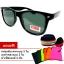แว่นตา แว่นกันแดด UV400 ทรง Wayfarer สีดำ thumbnail 1