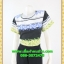 2730ชุดเดรสทำงาน เสื้อผ้าคนอ้วน ลายเวฟคอกลมกระโปรงจีบทวิสต์เสริมระบายช่วงล่าง เพิ่มความหวานสไตล์เบบี้ thumbnail 3