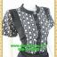 2558เสื้อผ้าคนอ้วนแต่งดำคอจีนแขนลายตัดสลับลำตัวสไตล์คล่องตัว กระฉับกระเฉงของสาวทำงาน thumbnail 2