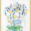 3038ชุดเดรสทำงาน เสื้อผ้าคนอ้วนลายสีสันสดใสลายกราฟฟิคพรางสรีระ ปกเชิ๊ตแขนกลีบบัวกระดุมหน้ากระโปรงทรงเอ สไตล์สาวมั่นคล่องตัว thumbnail 3