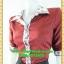 1998เสื้อผ้าคนอ้วน เสื้อผ้าแฟชั่นวาเลนติโน่แดงปกเชิ๊ตแขนยาวครึ่งศอกปลายแขนตุ๊กตากระดุมหน้าสไตล์สาวมั่นคล่องตัว thumbnail 3