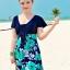 ชุดว่ายน้ำคนอ้วน 3xl สีกรมต่อลายเขียว รอบอก 36-42 เอว30-40สะโพก 36-44 ยาว 32 นิ้วค่ะ ด้านในเป็นกางเกงขาสั้นติดกับชุดค่ะเนื้อผ้าดีมากค่ะ thumbnail 2