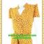 2475ชุดเสื้อผ้าคนอ้วน ชุดทำงานสีมัสตาดลายกราฟฟิคผ้าหางกระรอกสไตล์เปรี้ยวหรูไฮโซชุดป้ายสำเร็จเก็บทรงเนี๊ยบสุด thumbnail 3