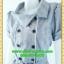 2548ชุดแซกทำงาน เสื้อผ้าคนอ้วนชุดลายตารางสีเทาทรงสุภาพเนี๊ยบแบบ หรูสไตล์สาวลุคใหม่มั่นใจโดดเด่นด้วยแถบขาวคู่ยาวพรางรูปร่างมีกระเป๋าหลอกซ้ายขวา thumbnail 3