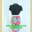 1661ชุดทํางาน เสื้อผ้าคนอ้วนคอบัวแหลมสีแดงส้มเนื้อผ้าวาเลนติโน่เก็บทรงใส่สบายตัดต่อลายโชว์ผ้าช่วงบนสไตล์เกาหลี thumbnail 4