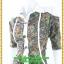 3014ชุดทํางาน เสื้อผ้าคนอ้วนปกเชิ๊ตกระดุมหน้าแขนยาวทรงเอเรียบเล่นลายปกแขนสาบ สไตล์เท่คล่องตัวกระเป๋าล้วงซ้ายขวา thumbnail 3