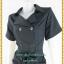 3217ชุดทํางานคนอ้วนสีดำ เสื้อผ้าคนอ้วนปกฮาวายสไตล์คล่องตัว กระฉับกระเฉง กระดุมหน้าสวมใส่ง่ายสไตล์โค้ทรับลมหนาว thumbnail 3