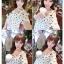 ชุดเดรสแฟชั่นกึ่งเสื้อ ผ้าชีฟองสวยหวานสไตล์เกาหลี มี 2 สี(ดำ/ขาว)-1033 thumbnail 5