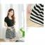 ชุดเดรสแฟชั่น MAYUKI fashions ปักมุกที่คอดูดีมีดีไซน์ ตัวเสื้อมี2 สี ขาว กับดำจร้า thumbnail 4