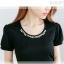 ชุดเดรสแฟชั่น MAYUKI fashions ปักมุกที่คอดูดีมีดีไซน์ ตัวเสื้อมี2 สี ขาว กับดำจร้า thumbnail 3
