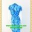 1558ชุดเดรสทำงาน เสื้อผ้าคนอ้วนปกเทเลอร์ใหญ่กระดุมหน้าลายดอกสีฟ้าสไตล์เนี๊ยบ ทรงสุภาพเป็นทางการสวมใส่ทำงาน thumbnail 4