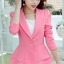 เสื้อสูทผู้หญิงใส่ทำงาน แต่งระบายที่ชายเสื้อสวยสไตล์เกาหลี-1205-สีชมพู thumbnail 2