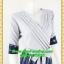 2642เสื้อผ้าคนอ้วน ชุดทำงานชุดกระโปรงคอวีตีเกล็ดไขว้กระโปรงแยกย้วย6ชิ้น แขนยาวทรงสุภาพสวมใส่ทำงานสไตล์สาวอกอวบใหญ่ thumbnail 2