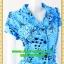 1558ชุดเดรสทำงาน เสื้อผ้าคนอ้วนปกเทเลอร์ใหญ่กระดุมหน้าลายดอกสีฟ้าสไตล์เนี๊ยบ ทรงสุภาพเป็นทางการสวมใส่ทำงาน thumbnail 2