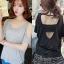 เสื้อแฟชั่นเกาหลี แนวเซ็กซี่โชว์หลัง มี 2 สี ดำ/เทา thumbnail 1