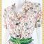 2969ชุดทํางาน เสื้อผ้าคนอ้วนลายดอกหลากสีปกเทเลอร์ใหญ่เดินระบายตามขอบปกเสื้อ ทรงสุภาพเรียบร้อยมีโบส้มเบรคลายคาดเอวพร้อมซับใน thumbnail 3
