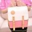 กระเป๋าเป้ กระเป๋าสะพายหลัง สำหรับผู้หญิง หนังนุ่ม สีชมพู thumbnail 5