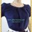 1211ชุดเดรสทำงาน เสื้อผ้าคนอ้วนมั่นใจสไตล์สาวเกาหลี ผ้าโซล่อน คอกลมจีบพับด้านหน้าอกดีไซน์หรู แขนตุ๊กตา เสริมชิ้นลอยที่กระโปรงพร้อมซับใน thumbnail 2