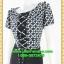 2640ชุดทํางาน เสื้อผ้าคนอ้วนลายตารางกราฟฟิคเล่นโบไขว้กากบาทด้านหน้าโดดเด่นด้วยคอปกจีบแยกผ้าvalentino thumbnail 3