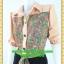 2677ชุดทํางาน เสื้อผ้าคนอ้วนชุดลายดอกสไตล์เชิ๊ตแขนยาวครึ่งศอกปลายแขนตุ๊กตากระดุมหน้ากระโปรงดำพรางสะโพก thumbnail 3