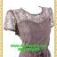 2489เสื้อผ้าคนอ้วน ชุดทำงานชุดคอกลมลูกไม้ลายดอกหวานแต่งแขนโปร่งสไตล์หรูเรียบพรางสรีระไม่ซ้ำใคร thumbnail 2