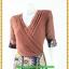 2867เสื้อผ้าคนอ้วน ชุดทำงานชุดกระโปรงผ้าชีฟองคอวีตีเกล็ดไขว้โดดเด่นด้วยกระโปรงแยกชิ้น10ชิ้น แขนยาวทรงสุภาพสวมใส่ทำงานสไตล์สาวอกอวบใหญ่ thumbnail 3