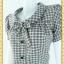 2395ชุดทํางาน เสื้อผ้าคนอ้วนคอบัวแขนตุ๊กตาอินเทรนสวยน่ารัก ผ้าทอลายสก็อตเทากระดุมหน้าเปิดได้สวมง่ายทรงเอเอวต่ำทันสมัย thumbnail 3
