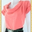 1954เสื้อผ้าคนอ้วน ชุดทำงานคอตลบสีโอโร้ล์ดหวาน จีบไหล่ซ้ายขวา แขนเลยขอบแขนเบิ้ลสไตล์แฟชั่นชุดทำงานมาพร้อมเข็มขัด thumbnail 3