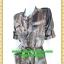 2723เสื้อผ้าคนอ้วน ชุดเดรสทำงานลายเปลือกไม้น้ำตาลคอจีนเตี้ยกระดุมหน้ากระโปรงทวิสต์คู่เล่นลายผ้าเงาดีไซน์หรูไม่ซ้ำใครมั่นใจคล่องตัว thumbnail 3