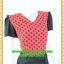 2996เสื้อผ้าคนอ้วน ชุดเดรสคนอ้วนสีแดงลายจดดำคอวีแต่งแขนและกระโปรงดำสไตล์สาวมั่นยุคใหม่ thumbnail 2