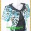 3028เสื้อผ้าคนอ้วน ชุดทำงานคอกลมสีดำแต่งกั๊กลายเสือสไตล์เกาหลีสวมใส่ทำงานน่ารักสะดุดตาให้เลือกสวมใส่ทำงาน thumbnail 2