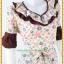 3147ชุดทํางาน เสื้อผ้าคนอ้วนผ้าเครปลายทิวลิปดอกโดดเด่นสะดุดตาแขนทรงระฆัง ระบายรอบเอว สวมใส่สบายหรูหราอลังการเลือกใส่เป็นชุดออกงานเลิศหรู thumbnail 2