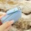 กระเป๋าสตางค์ผู้หญิงทรงสั้นซิป สีฟ้า thumbnail 3
