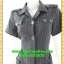 2710เสื้อผ้าคนอ้วน ชุดทำงานชุดดำลายริ้วแซมขาวในเนื้อผ้าคอปกฮาวายเล็กแขนสั้นกระดุมหน้ามีกระเป๋ากระโปรงล้วงซ้ายขวาสไตล์สปอร์ตทรงต่อเอวต่ำคาดโบเก๋ๆ thumbnail 3