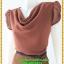 2879เสื้อผ้าคนอ้วน ชุดออกงานคอถ่วงสีน้ำตาลแดงในเนื้อผ้าเนื้อผ้าชีฟองคอถ่วงแขนจีบไหล่ย่นด้านข้าง thumbnail 3